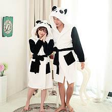 Махровый халат панда