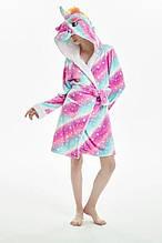 Молодежный халат единорог