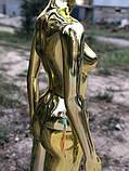 Женский золотой манекен Аватар в полный рост на подставке, фото 3