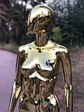 Женский золотой манекен Аватар в полный рост на подставке, фото 4