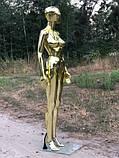Женский золотой манекен Аватар в полный рост на подставке, фото 6
