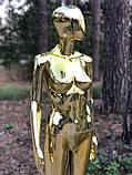 Женский золотой манекен Аватар в полный рост на подставке, фото 7