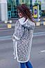 """Женский кардиган на меху """"VS"""" с карманами и капюшоном (большие размеры), фото 3"""
