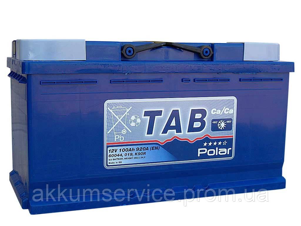 Аккумулятор автомобильный TAB Polar 100AH R+ 920A