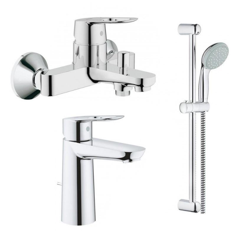 Набор смесителей для ванны GROHE BauLoop (23762000 + 23603000 + 27598001)