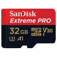 Карта памяти SanDisk 32GB microSDHC UHS-I U3 (с адаптером) (SDSQXCG-032G-GN6MA)