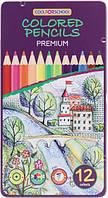 Карандаши цветные Premium 12 цветов