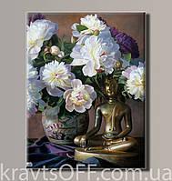 "Картина на холсте ""Пионы натюрморт  '' ( 54х41 см )"
