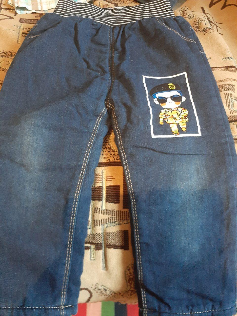 Джинсовые штаны на позднюю осень утеплённые
