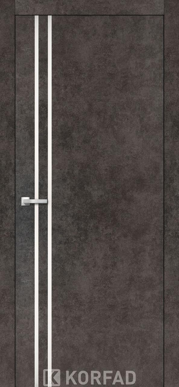 Двери KORFAD щитовые ALP-01, полотно+коробка+1к-т наличников, эко-шпон Sincrolam