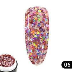 Glitter gel 5 грамм  Global Fashion 06