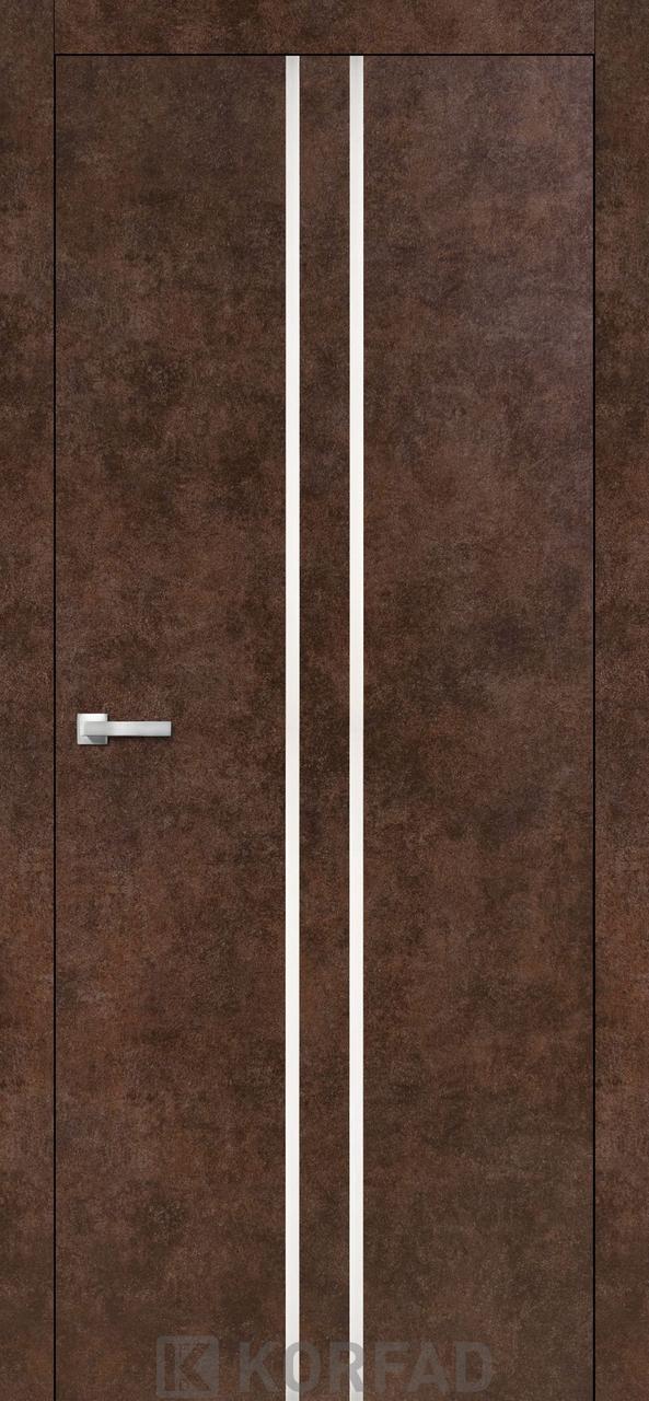 Двери KORFAD щитовые ALP-02, полотно+коробка+ 2к-та наличников+добор 60мм, эко-шпон Sincrolam