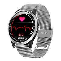 Умные часы Lemfo N58 Metal с измерением давления и ЭКГ (Серебристый)