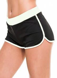 Спортивные шорты женские Issa Plus 9492 черный с белым