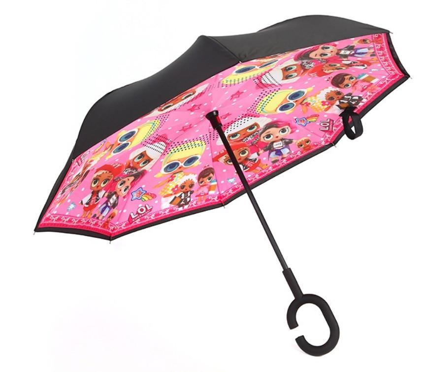 Дитяча парасолька зворотного складання SUNROZ Kids Up-brella парасоля-навпаки Стиль 3 (SUN5217)