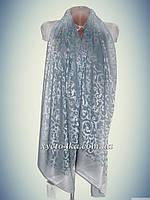 Нарядный шарф на шёлковой основе Афродита, бирюзовый