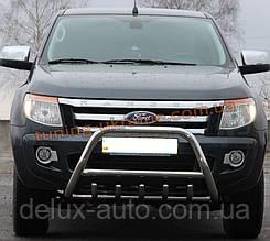 Защита переднего бампера кенгурятник из нержавейки на Ford Ranger 2011-2015