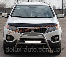 Защита переднего бампера кенгурятник из нержавейки на Kia Sorento 2009-2012