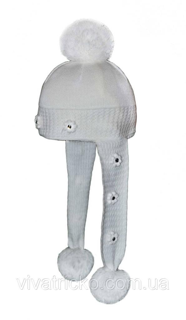 Шапка-шарф для девочки зимняя м 9145 р 1-4 лет, разные цвета