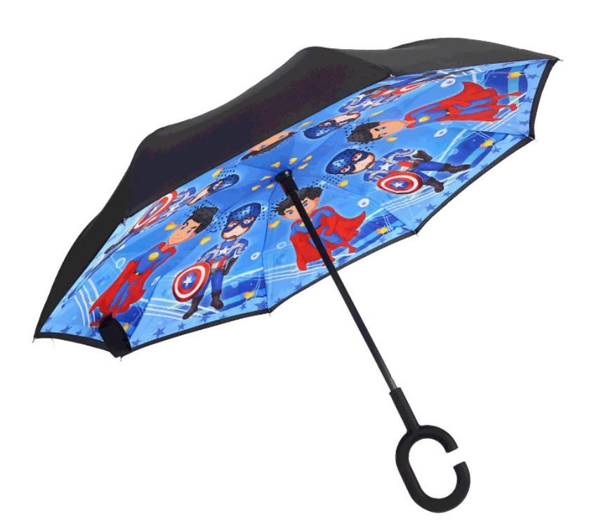 Дитяча парасолька зворотного складання SUNROZ Kids Up-brella парасоля-навпаки Стиль 4 (SUN5218)
