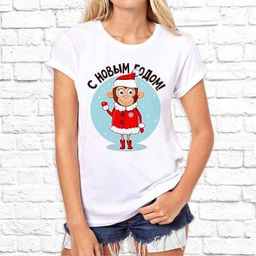 Жіноча футболка з новорічним принтом