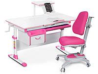 Комплект Evo-kids Evo 40 PN Pink (стол+ящик+полка+кресло)