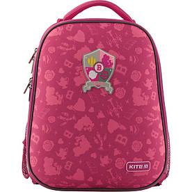 Рюкзак школьный для девочки 6-10 лет Kite Princess каркасный ортопедический, розовый EVA