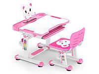 Комплект Evo-kids (стул+стол+полка) BD-04 P Teddy Pink - столешница белая / цвет пластика розовый
