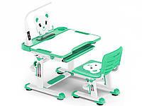 Комплект Evo-kids (стул+стол+полка+лампа)  Green c лампой - столешница белая / цвет пластика зеленый