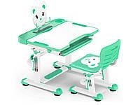 Комплект Evo-kids (стул+стол+полка) BD-04 Z (XL) Teddy Green - столешница белая / цвет пластика зеленый
