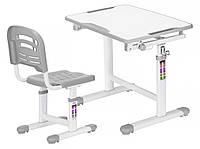 Комплект Evo-kids (стол+стул) Evo-07 Grey - столешница белая / цвет пластика серый