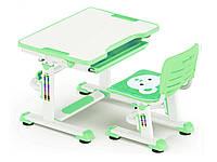 Комплект Evo-kids (стол+стул) BD-08 Z - столешница белая / цвет пластика зеленый