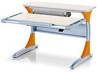 Стол Mealux Harvard MG/Y+box (BD-333 MG/Y+box) - столешница клен / накладки на ножках оранжевые