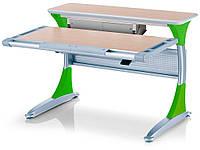 Стіл Mealux Harvard TG/Z+box (BD-333 TG/Z+box) - стільниця береза / накладки на ніжках зелені