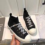 Dior кроссовки.  Высокие кеды.  Брендовая обувь. Женские кеды., фото 2