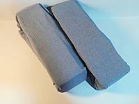 Простынь трикотажная на резинке 100*200 Голубая