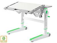 Дитячий стіл Mealux Ergowood L ( BD-810 TG/Z) - стільниця береза / накладки на ніжках зелені