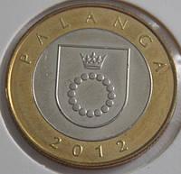 Монета Литвы 2 лита 2012 г.