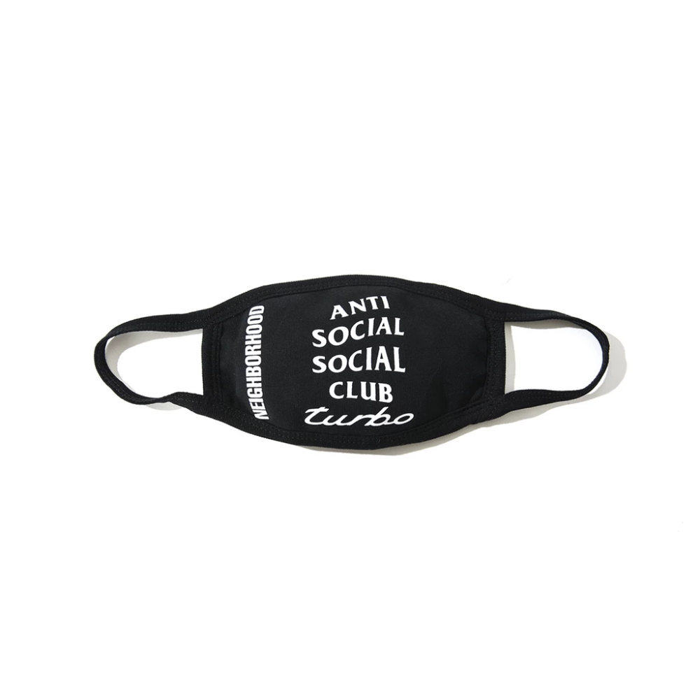 Маска на лицо Бафф Anti Social Social Club ASSC Turbo черная