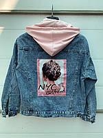"""Куртка джинсовая женская с фотопринтом, размер 42-46 (2цв) """"Zeo Basic"""" купить недорого от прямого поставщика"""