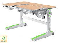 Десткий стол Mealux Kingwood White Z ( BD-820 W/Z) - столешница белая / накладки на ножках зеленые