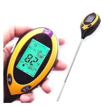 PH-метр, вологомір, термометр, люксметр для ґрунту