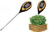 PH-метр, вологомір, термометр, люксметр для ґрунту, фото 3