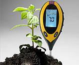 PH-метр, вологомір, термометр, люксметр для ґрунту, фото 4
