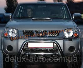 Защита переднего бампера кенгурятник из нержавейки на Nissan NP300 2008