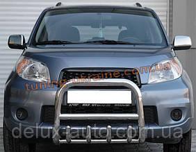 Защита переднего бампера кенгурятник из нержавейки на Subaru Forester 2002-2008