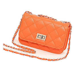 Женская маленькая сумочка на цепочке из PU кожи