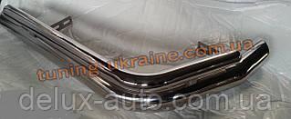 Защита заднего бампера уголки двойные из нержавейки на Fiat Scudo 2007-2014