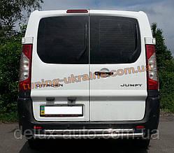 Защита заднего бампера труба двойная из нержавейки на Fiat Scudo 2007-2014
