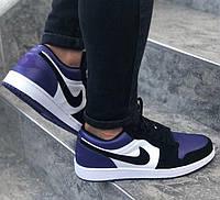 Мужские кроссовки Nike Air Jordan Retro low violet white 40-45р. Живое фото (Реплика ААА+), фото 1